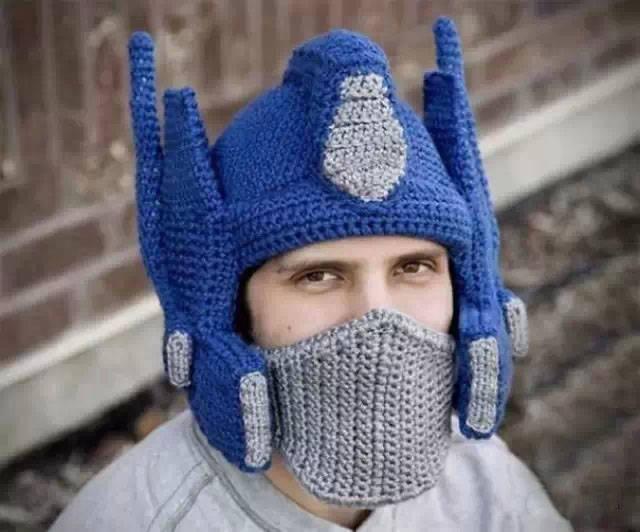 逗B老婆给我织的毛线帽子 成就了我的炫酷冬天